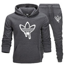 New Hot Set Fashion Hooded Sweatshirts Sportswear Men Tracksuit