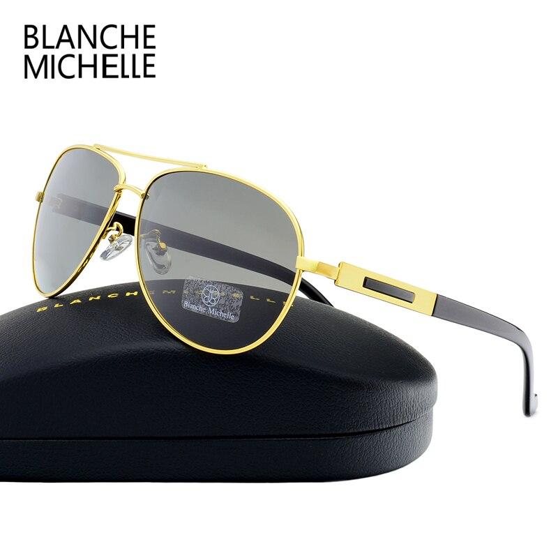 0110e7d98de01 2018 de Alta Qualidade Piloto Polarizada Óculos De Sol Dos Homens UV400  óculos de Sol Óculos de Condução Preto Quadro Óculos De Sol Dos Homens  Designer de ...