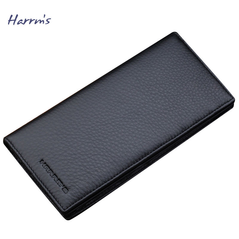 ФОТО Harrms Men Wallets Genuine Leather Men Wallet Brown Wallets and Purse Designer Wallets Famous Brand 2016 New Fashion