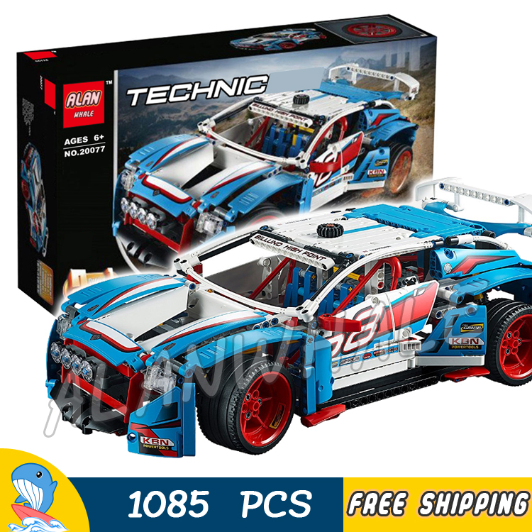 1085pcs 2in1 Techinic Advanced Rally Car High-speed Buggy 20077 Model Building Blocks Assemble Toys Bricks Compatible With lego 1060pcs 2in1 techinic motorized heavy