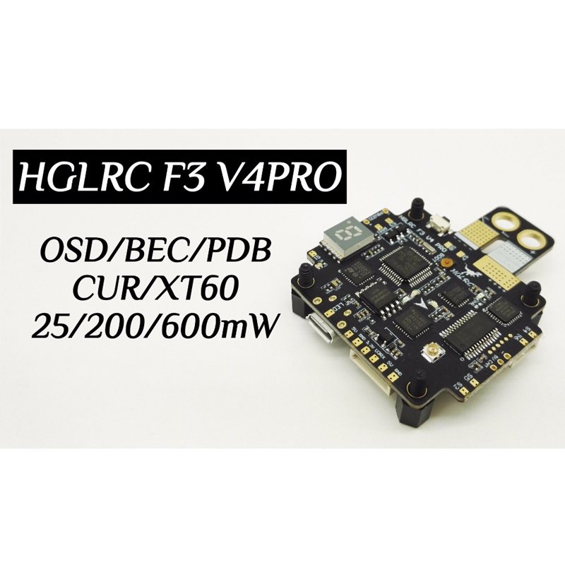 HGLRC F3 V4PRO Flight Control Board Switchable Transmitter OSD BEC PDB for FPV Quadrocopter QAV-R QAV-X QAV180 210 250 upgrade ts5823l 5 8ghz switchable 25mw 200mw 48ch av fpv transmitter module readytosky for fpv racer 130 qav x r qav210