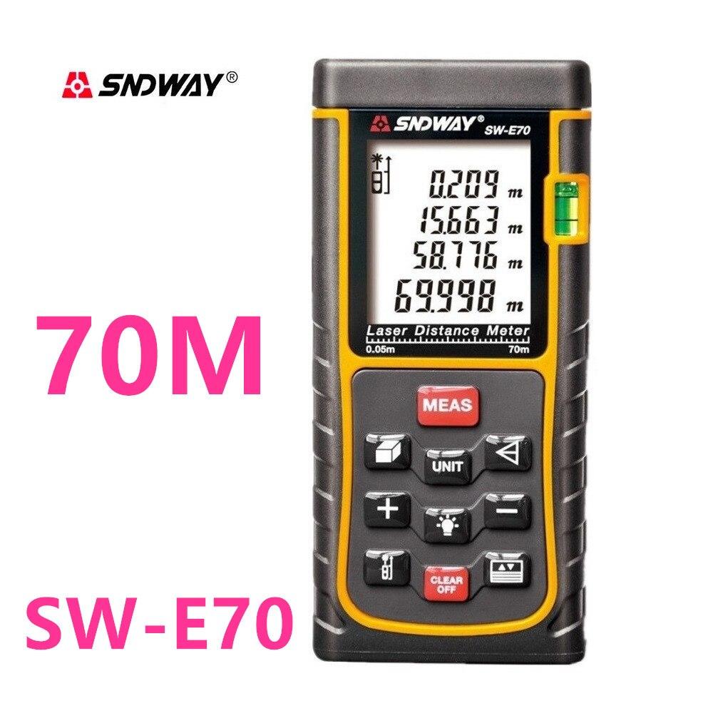 SNDWAY Digitale Laser abstand Meter 150M 100M 80M 60M 50M 40M Laser-entfernungsmesser Palette finder trena Laser maßband