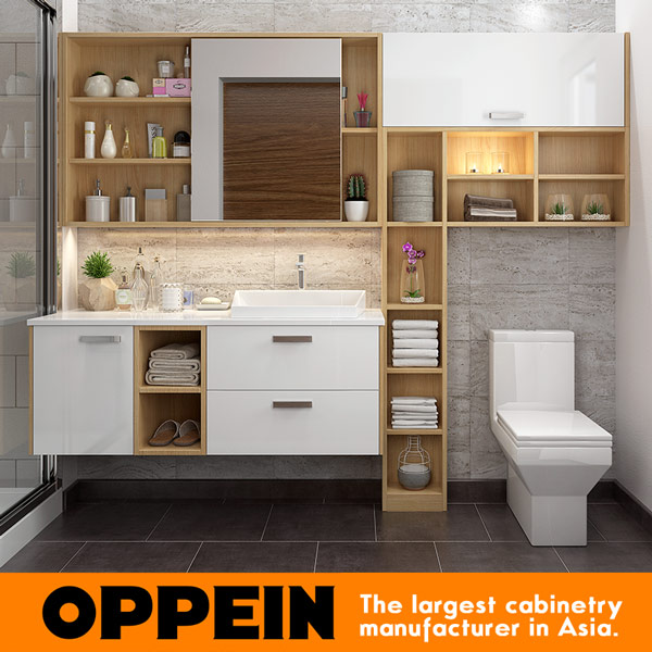 Oppein Modern Wall Mounted Wooden Bathroom Vanity Furniture Set Bc17 Hpl01