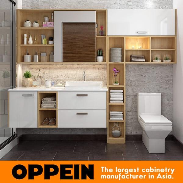 OPPEIN & Moderne Wand Holz badezimmer eitelkeit Badezimmer ...