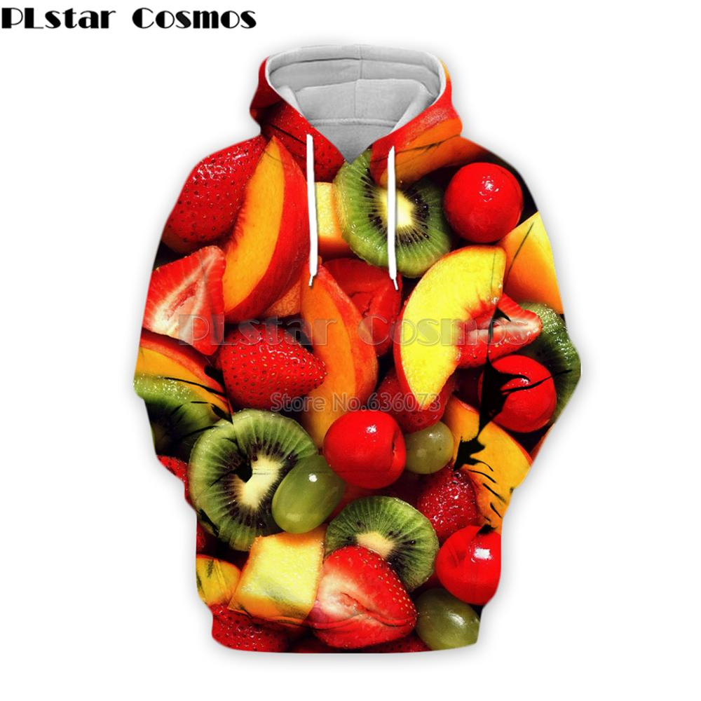 PLstar Cosmos 2019 Fashion Men <font><b>hoodies</b></font> Fruit Strawberry / Orange / Kiwi Printed <font><b>3d</b></font> Hoodie <font><b>Unisex</b></font> streetwear Hooded Sweatshirt image