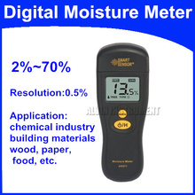 Free Shipping Digital Moisture Meter Tester Application chemical industry building materials wood paper food etc