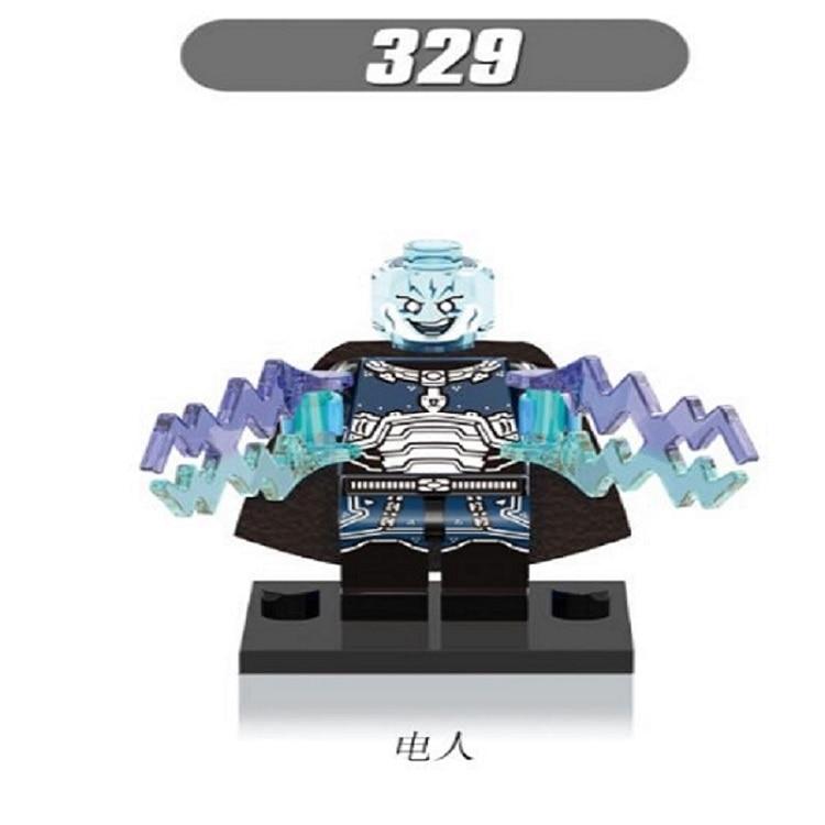 50Pcs XH 329 Super Heroes Electro Hobgobblin Villains Mysterio Doctor Octopus Kraven Building Blocks Children Gift Toys X0123