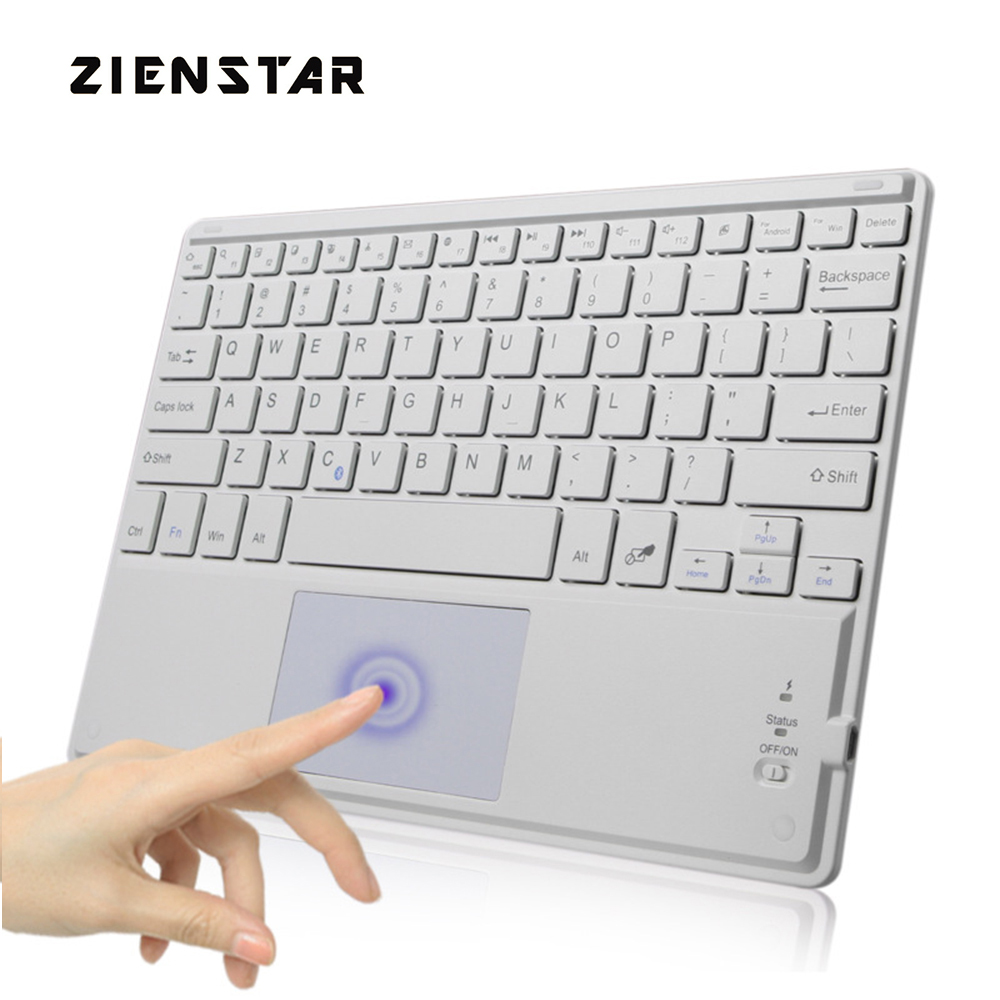 Zienstar 10 inch Universal Wireless Bluetooth keyboard with Touchpad For Samsung Tab/ Microsoft/ Android /Windows Tablet запчасть tetra крепление для внутреннего фильтра easycrystal 250
