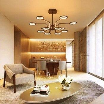 Omicron Braun Moderne LED Anhänger Lichter Suspension Nordic Anhänger Lampe Für Esszimmer Wohnzimmer nordic lampe Hotel Lichter Leuchten