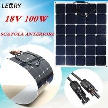 Универсальный SPW-100W 18 В Солнечный Панель монокристаллический полугибкий + ВС-Мощность чип для RV лодка дома кемпинг 12 В Батарея Зарядное устройство