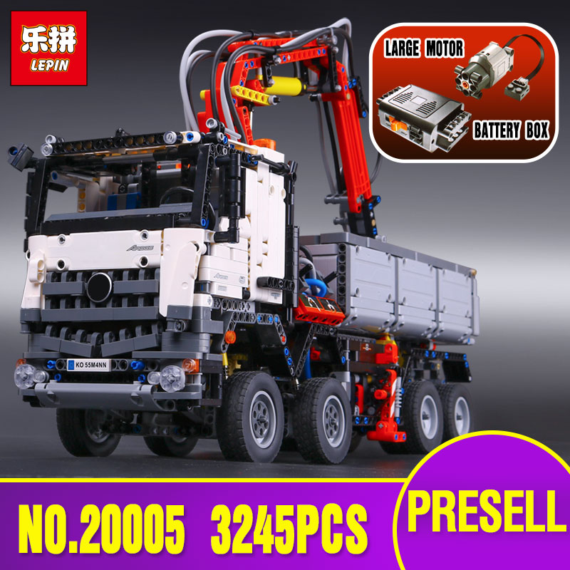 3245pcs NEW LEPIN 20005 technic series Arocs Model Building blocks Bricks Compatible with Toy for Children 42043 2793pcs technic remote controlled arocs truck 20005 building kit 3d model blocks minifigures toys bricks compatible with lego