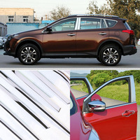A Set  Window Pillars Window Sill Molding Trim Exactly Fitted For Toyota RAV4 2014-2017