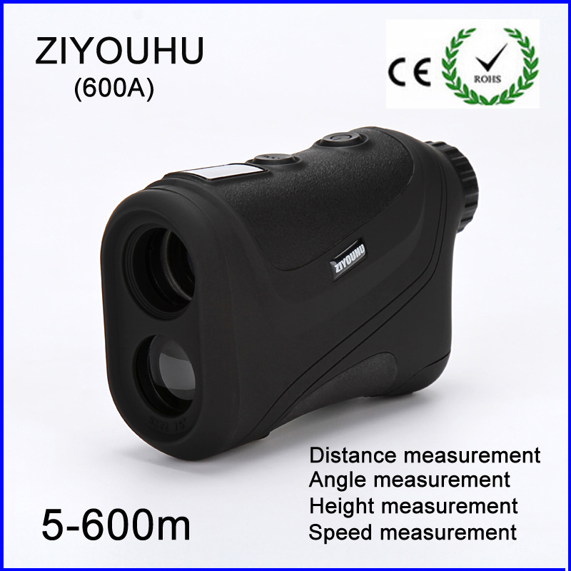 Waterproof 6x24mm Speed Measuring and 500m Distance Measurer Laser Rangefinder for Golf and Hunting