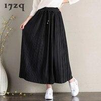 17zq Ladies Skirt Fashion Harajuku Pleated Long Skirts With Bowknot Women Preppy Style Skirt Faldas Mujer Moda Jupe S1966