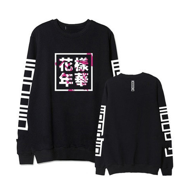 Spring Autumn Hoodies Women Bangtan Boys Album Fans Clothing Letter Printed O Neck Sweatshirt