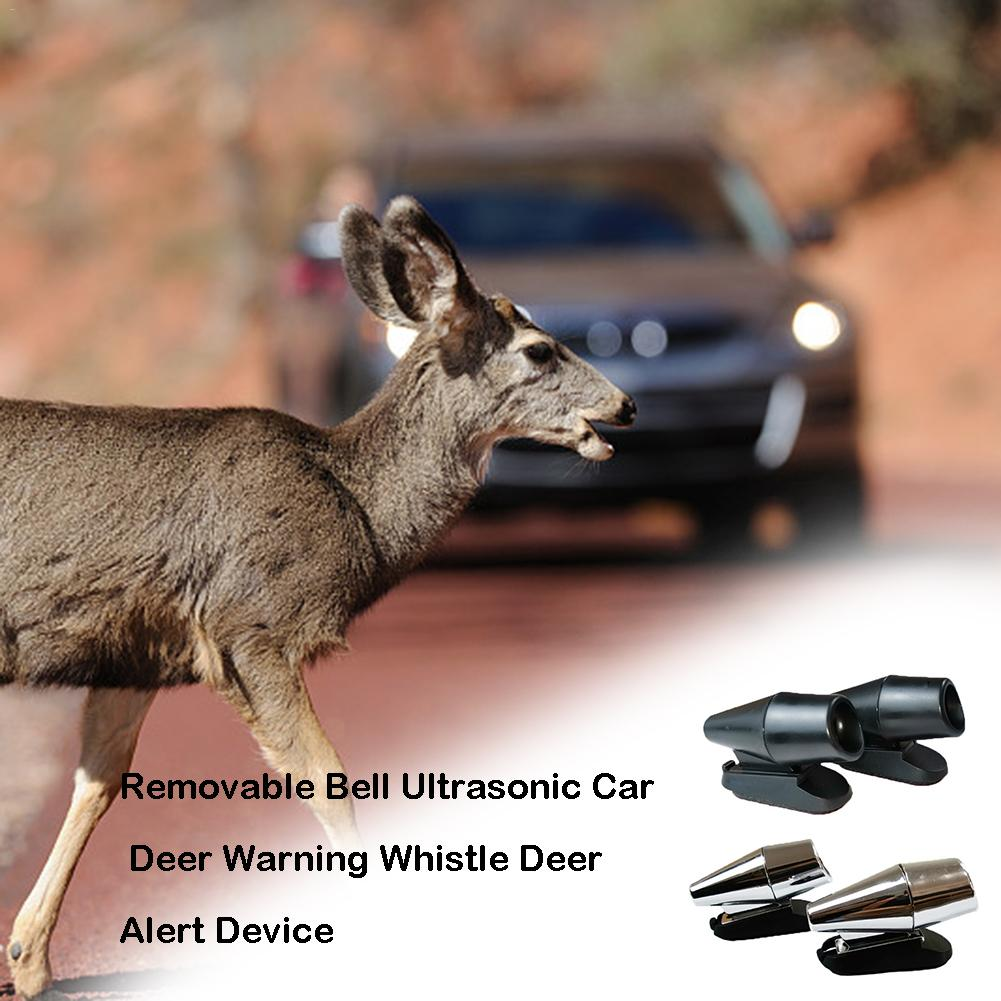 2 Pcs Car Wind Ultrasonic Driven Tweeter Animal Drive Animal Whistle Animal Warning Device Drive Deer Wild Driving Safety