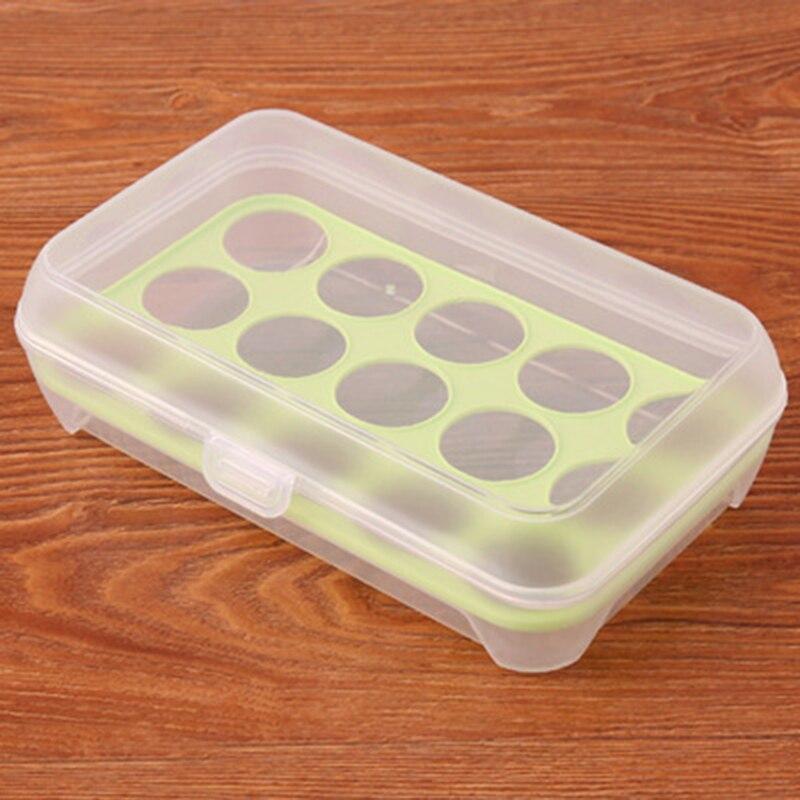 1 шт. 15, яйцо ящик для хранения Организатор холодильник хранения яйцо 15 яйца Организатор Открытый Портативный контейнер яйцо организаторы