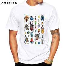 Newest Design insect T-Shirt Summer Men's Personality White Printed T Shirt Geek Style Tops Tee Clothes(China)