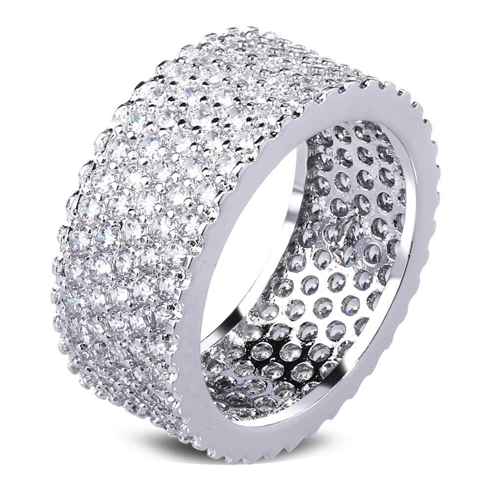 Latest Design Luxury Round Rings Allergy Free AAA Cubic Zirconia ...