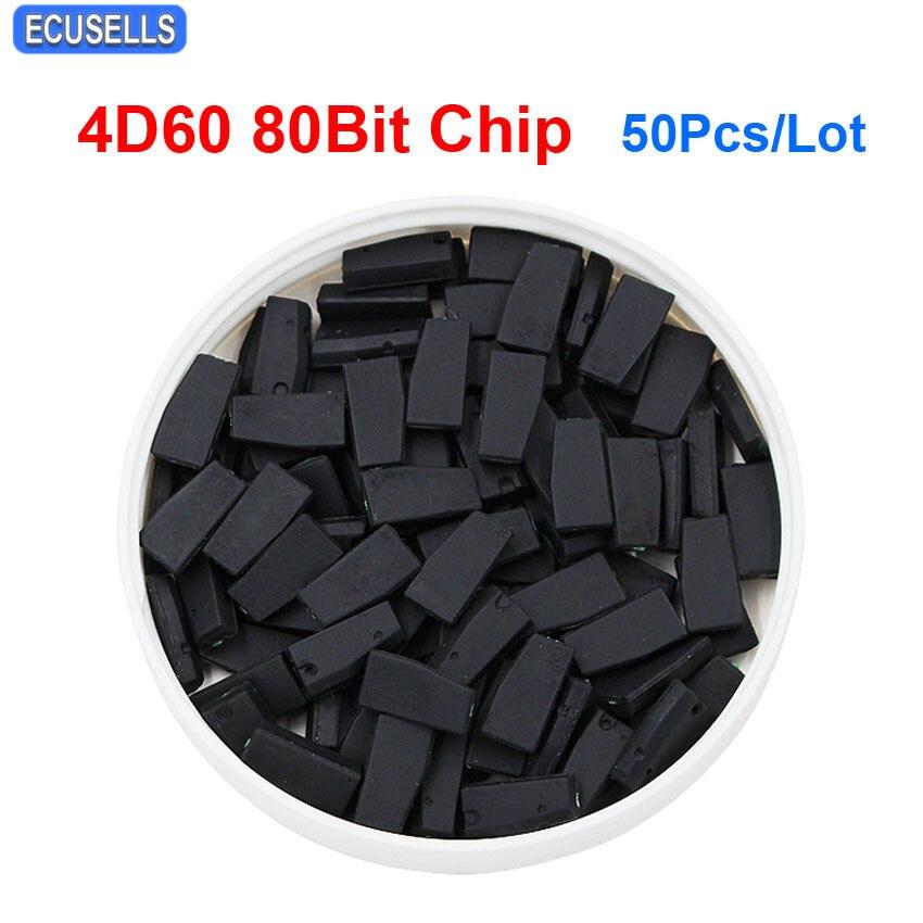 50Pcs Lot 4D60 Chip 80 Bits 4D ID60 80Bit Carbon Auto Car Key Transponder Chip for