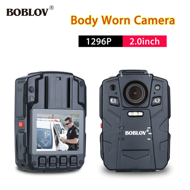 BOBLOV HD66-13 32GB HD 1296P 170 Degree Angle Police Body Worn Camera 2.0inch LCD with 1950mAh Battery