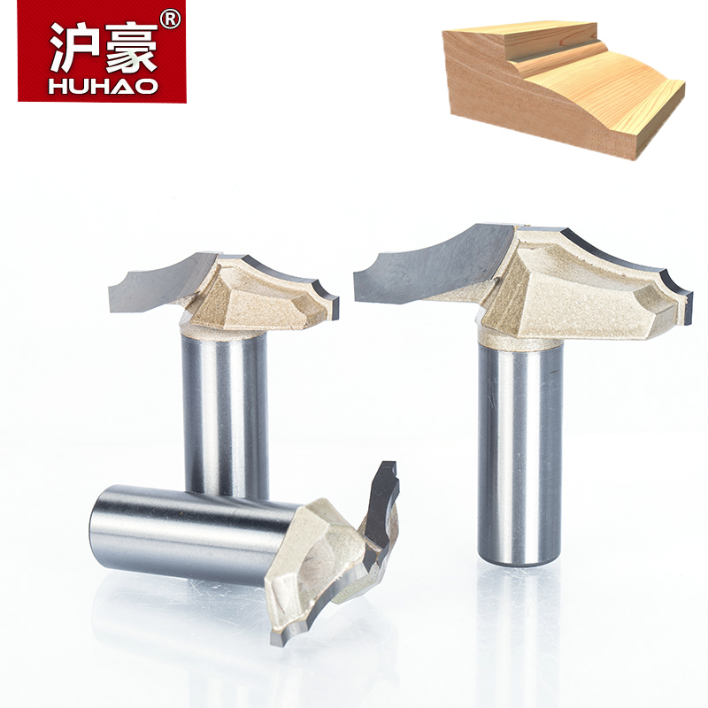 HUHAO 1pc 1/2 1/4 Shank Trimmer Router Bits For Wood Tungsten Carbide Woodworking Engraving Endmill Tools For Hard Wood MDF huhao 1pcs 1 2 1 4 shank classical router bits for wood tungsten carbide woodworking endmill tools classical mounlding bit