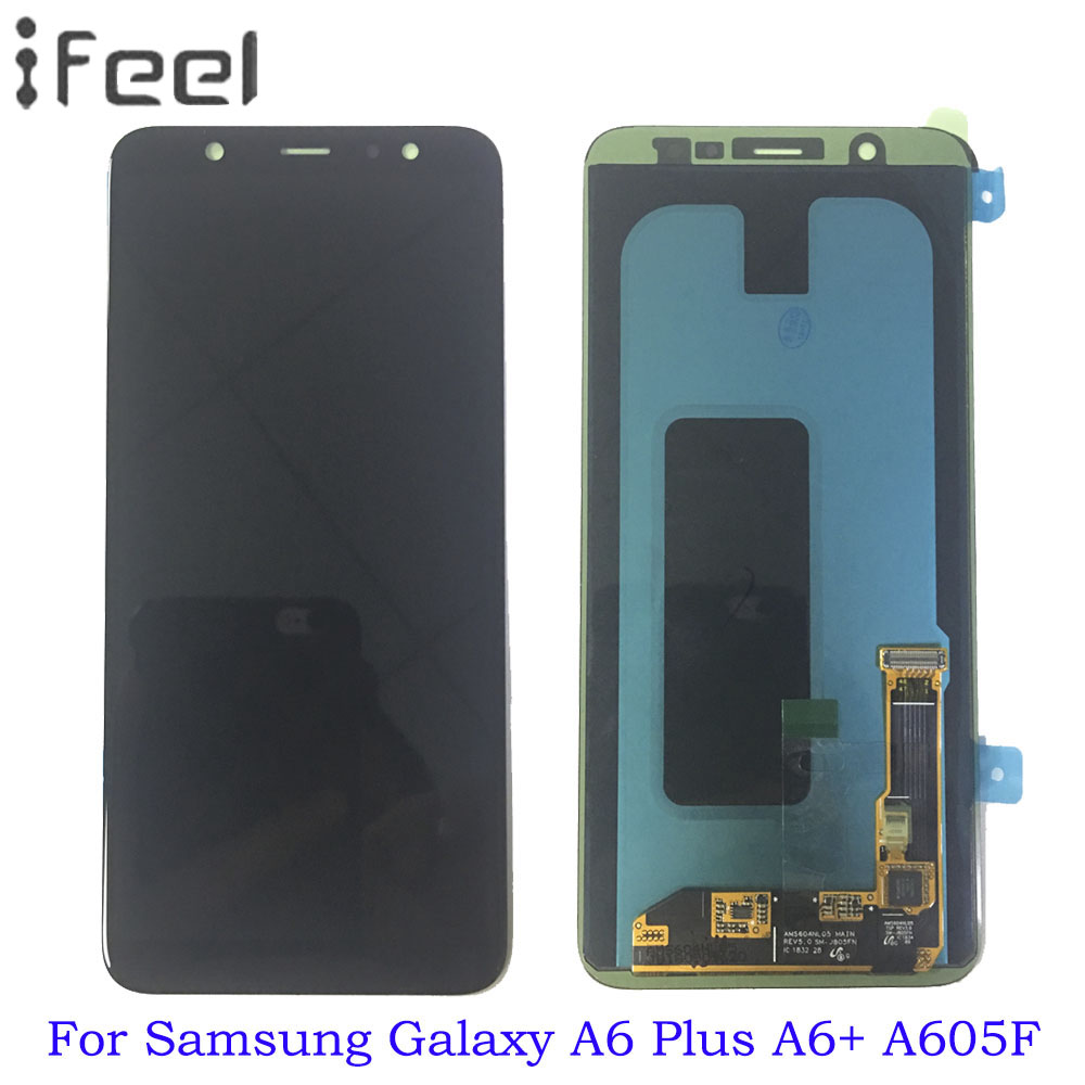 AMOLED A6 LCD For Samsung Galaxy A6/A6 Plus A6+ 2018 A600F A600FN A605F LCD Display Touch Screen Assembly ReplacementAMOLED A6 LCD For Samsung Galaxy A6/A6 Plus A6+ 2018 A600F A600FN A605F LCD Display Touch Screen Assembly Replacement