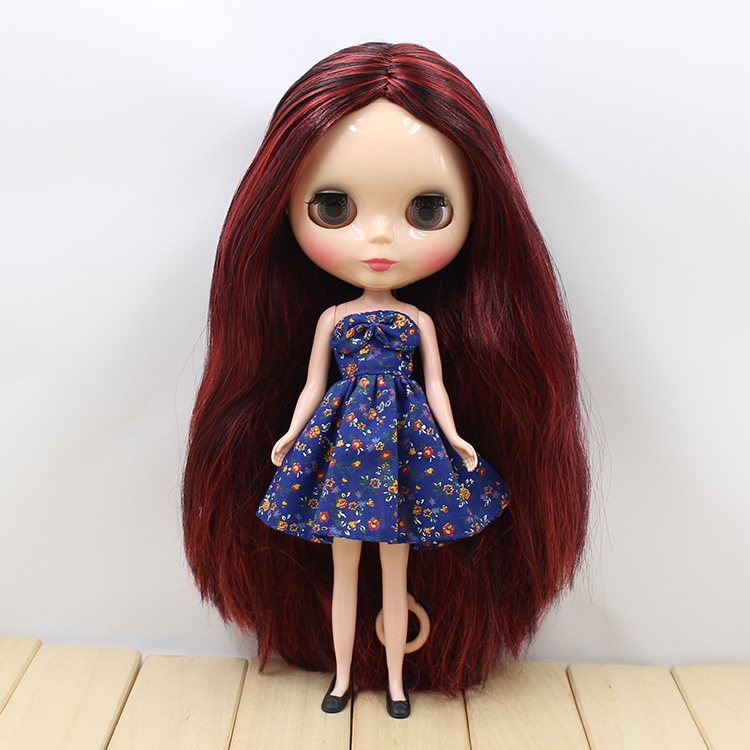 Nude blyth dolls fashion doll brown hair without bang In