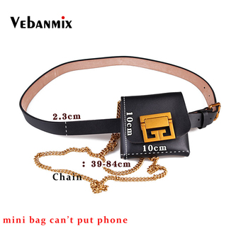 Luxury Brand Mini Leather Fanny Pack for Women Fashion Snake Skin Female Chains Shoulder Bag Small Waist Pack Belt Purse Bags