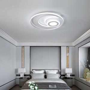 Image 2 - Bianco moderno lampadario illuminazione a Led per la camera da letto soggiorno sala da pranzo acrilico lustre luminaria lampadario lampadario A Soffitto