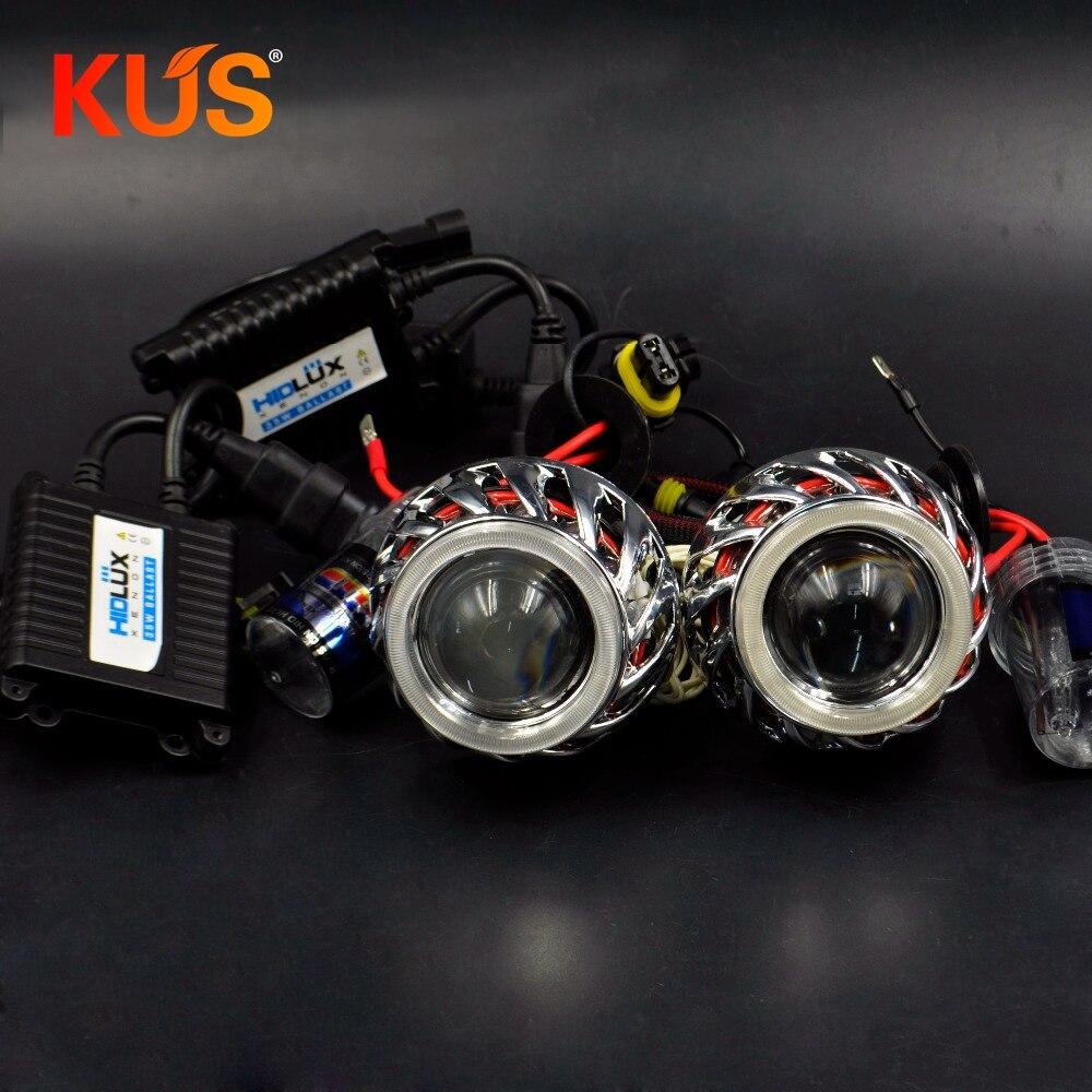 2 0inch mini h1 bixenon hid car Projector lens 35W hid xenon kit ballast bulb fit
