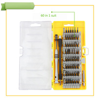 New 60 In 1 S2 Alloy Magnetic Screwdriver Set Precision Driver Electronics Repair Tool Kit For