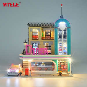 Image 3 - MTELE Brand LED Light Up Kit Toy For 10260 Down town Diner Creator City Street Lighting Set Compatile With 15037