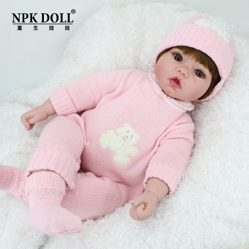 50cm Pink Girl Baby Reborn Dolls Fashion Sweater Suits Kids Doll Toys Lifelike Boneca Reborn Baby Toys for Kids Birthday Gifts