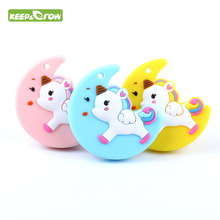 Food Grade Unicorn Ginger Man Teether Silicone Mordedor BPA Free Baby Gift Oral