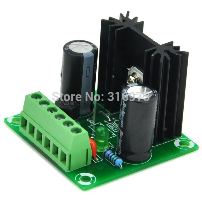 12V DC Positive Voltage Regulator Module Board, Based on 7812