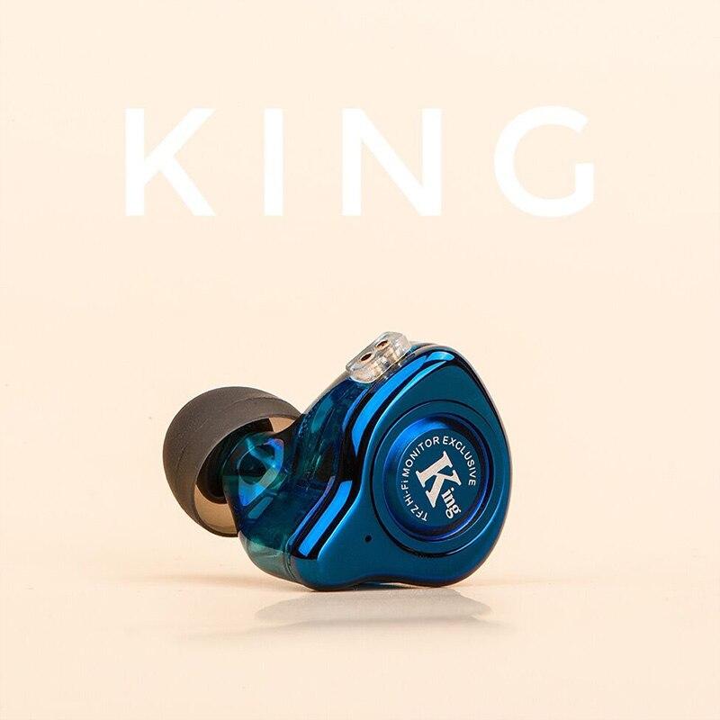TFZ/обновленная версия KING, HIFI мониторы наушники, TFZ Металл BassSound качество музыки гарнитура, TFZ наушники с ремешком для шеи рождественский подар...