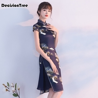 2019 new qipao red lace cheongsam modern chinese traditional wedding dress women vestido oriental collars sexy long qipao