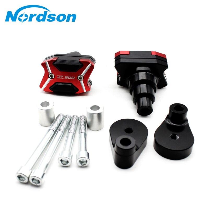 Nordson CNC Aluminum Motorcycle Alloy Frame Slider Falling Protector Anti Crash Caps Accessories For KAWASAKI Z900 2016-2017