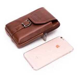 Image 3 - Retro Luxe Lederen Mobiele Telefoon Bag Voor Samsung Galaxy S8 S9 Plus S7 J Serie Echt Koeienhuid Portemonnee Case Voor iPhone 6 7 8 X