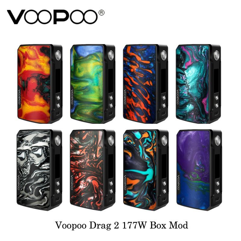 Cigarette électronique Voopoo Glisser 2 177 W boîte de tc Mod GÈNE. FIT Puce Alimenté Par Double 18650 Batterie Vaporisateur kit vaporisateur VS VOOPOO 157 W