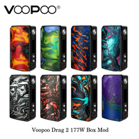 Electronic cigarette Voopoo Drag 2 177W TC Box Mod GENE.FIT Chip Powered By Dual 18650 Battery Vape Vaporizer Kit VS VOOPOO 157W