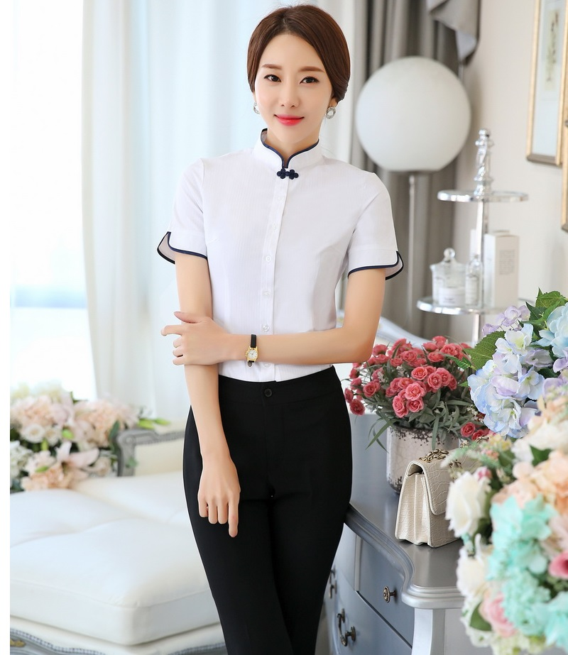 c9c898f662e0 Plus Size Formal Ladies Pantsuits OL Styles With Tops And Pants For ...