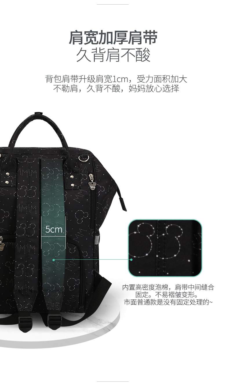 HTB1.NnBFVuWBuNjSszbq6AS7FXar Disney Backpacks Mummy Bag Multifunction Large Capacity Double Shoulder Travel bags Baby Handbag Bottle Insulation Chair Bags