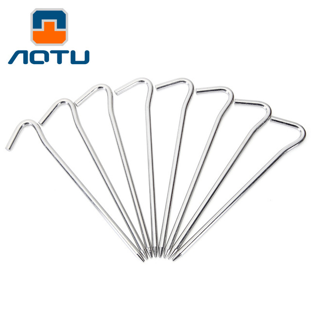 4pcs/set Aluminum Skidproof and Steady Metal Tent Pegs Stakes Hook Design Outdoor C&ing Tent  sc 1 st  AliExpress.com & 4pcs/set Aluminum Skidproof and Steady Metal Tent Pegs Stakes Hook ...