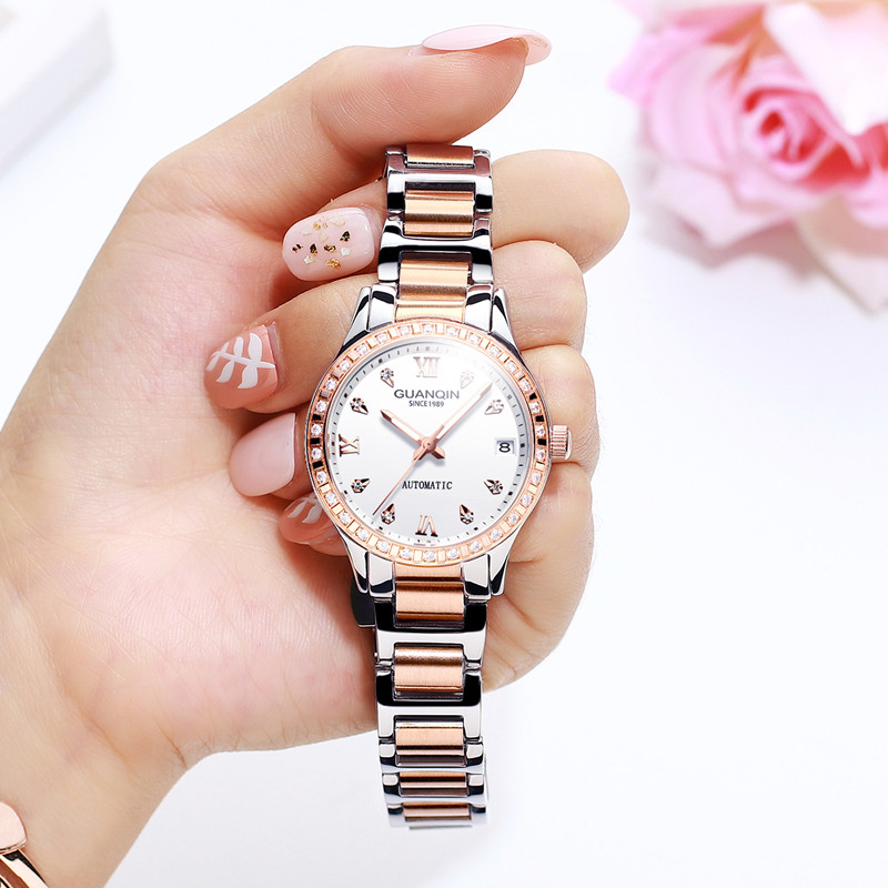 GUANQIN Women Watches Top Brand Luxury Rose Gold Ladies Watch Stainless Steel Band Classic Bracelet Female Clock Relogio 2019GUANQIN Women Watches Top Brand Luxury Rose Gold Ladies Watch Stainless Steel Band Classic Bracelet Female Clock Relogio 2019