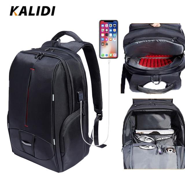 KALIDI Waterproof Laptop Backpack 17.3 Inch Travel Bags Usb 17 Inch School Backpack Men Women Casual Bagpack 15.6 Inch DayPack