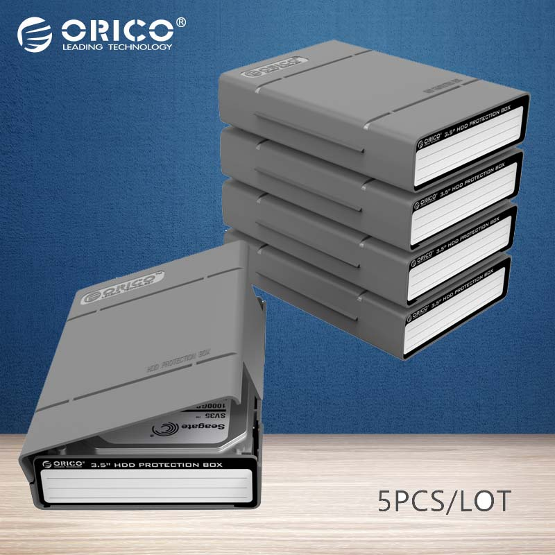 ORICO PHP-5S-GY Simple HDD Protector Box for 3.5 HDD Case with Waterproof Function- 5PCS/LOT-Gray