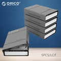 "ORICO PHP-5S-GY Simple HDD Protector Box for 3.5"" HDD Case with Waterproof Function- 5PCS/LOT-Gray"