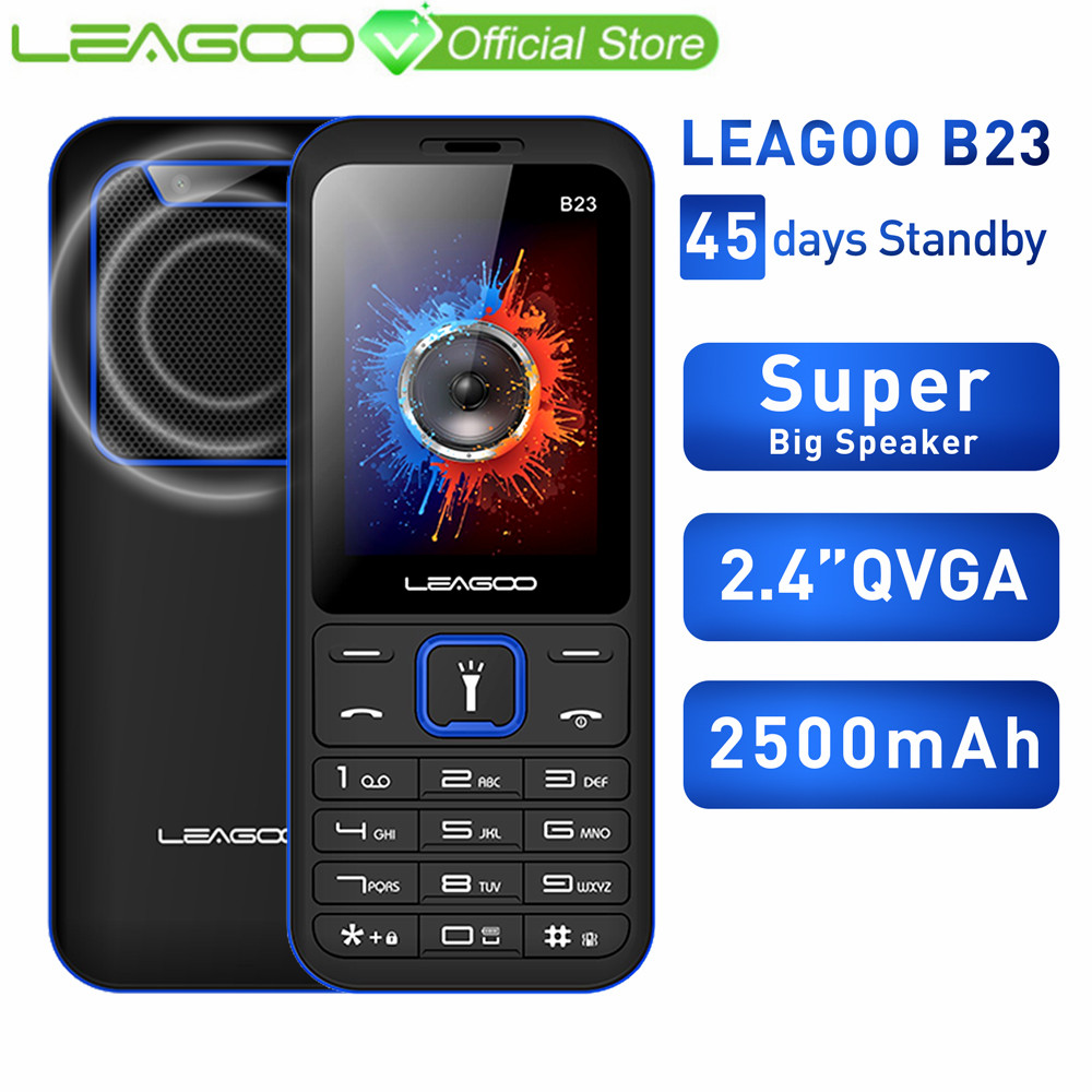 LEAGOO B23 Feature Mobile Phone Senior Kids Mini Phone Russian Keypad 2G GSM Push Button Key Cellphone(China)